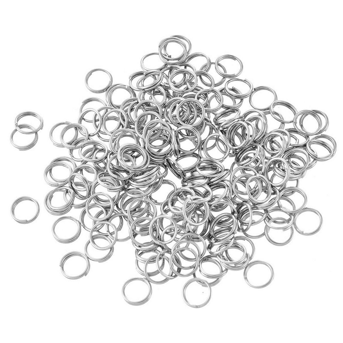 Angel Malone ® 100 x 5mm Hypo-Allergenic Surgical 304 Stainless Steel Split Rings Jewellery Making Findings UK SELLER