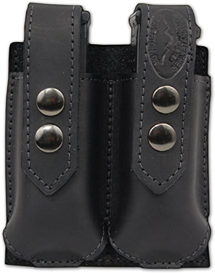 NEW Barsony Black Leather Single Magazine Pouch Walther Steyr Compact 9mm 40 45