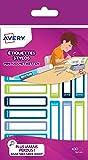 Avery 30 Etiquettes Stylos - 50x10mm - Bleu/Vert (RESMI30G)