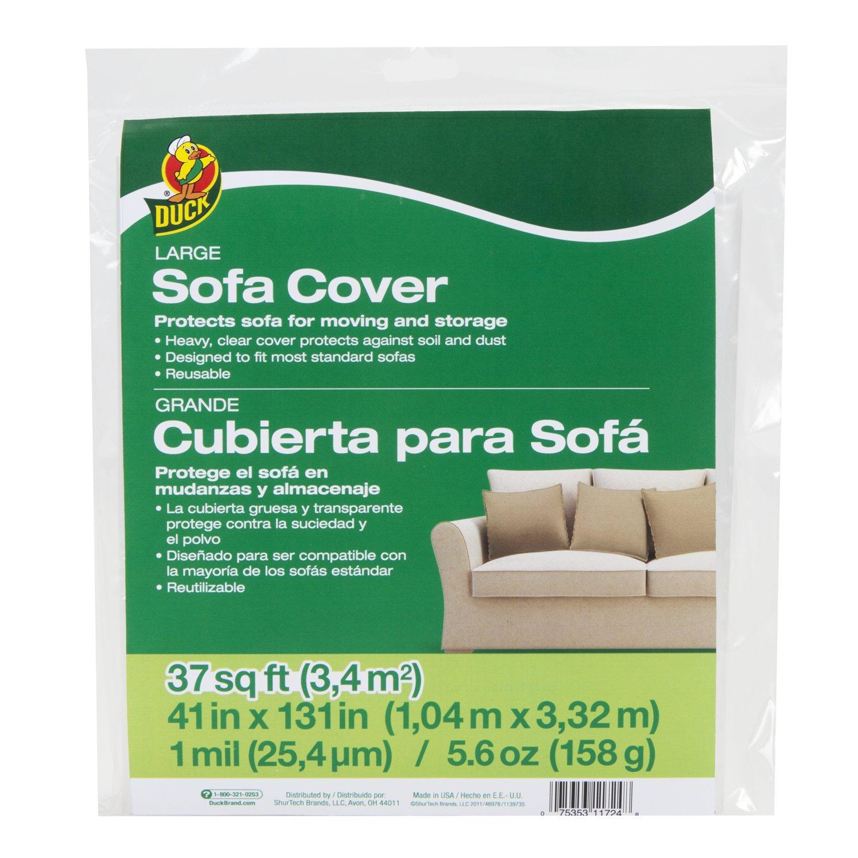 """Duck Brand Sofa Cover 41"""" x 131"""" Clear Sofa"""