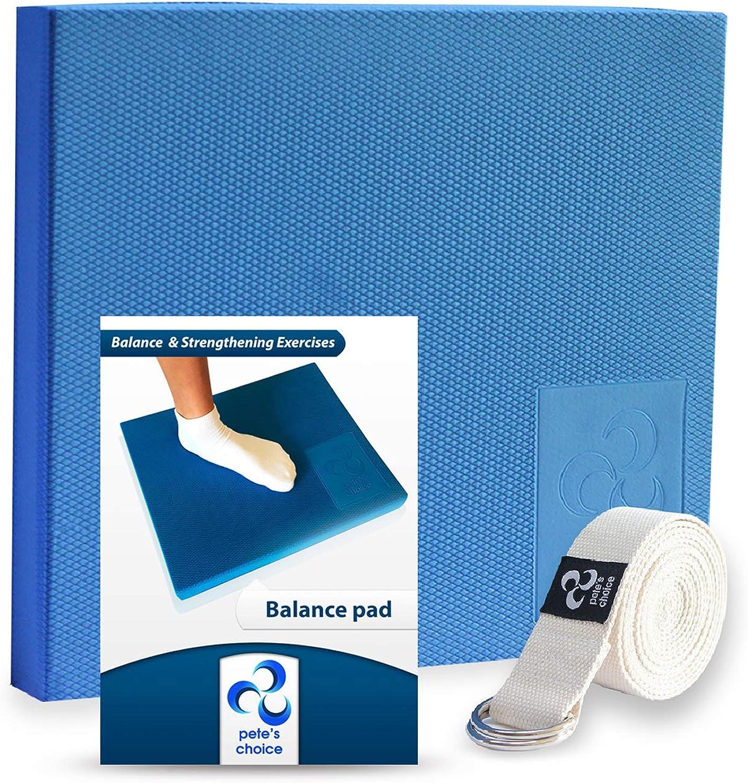 Yoga Gymnastik f/ür Kinder//Erwachsene Fitness Sport Koordinationsmatte Wackelkissen,Training und Verbesserung von Gleichgewicht Stabilit/ät femor Balance Pad usw Balancekissen mit Trainings-Book