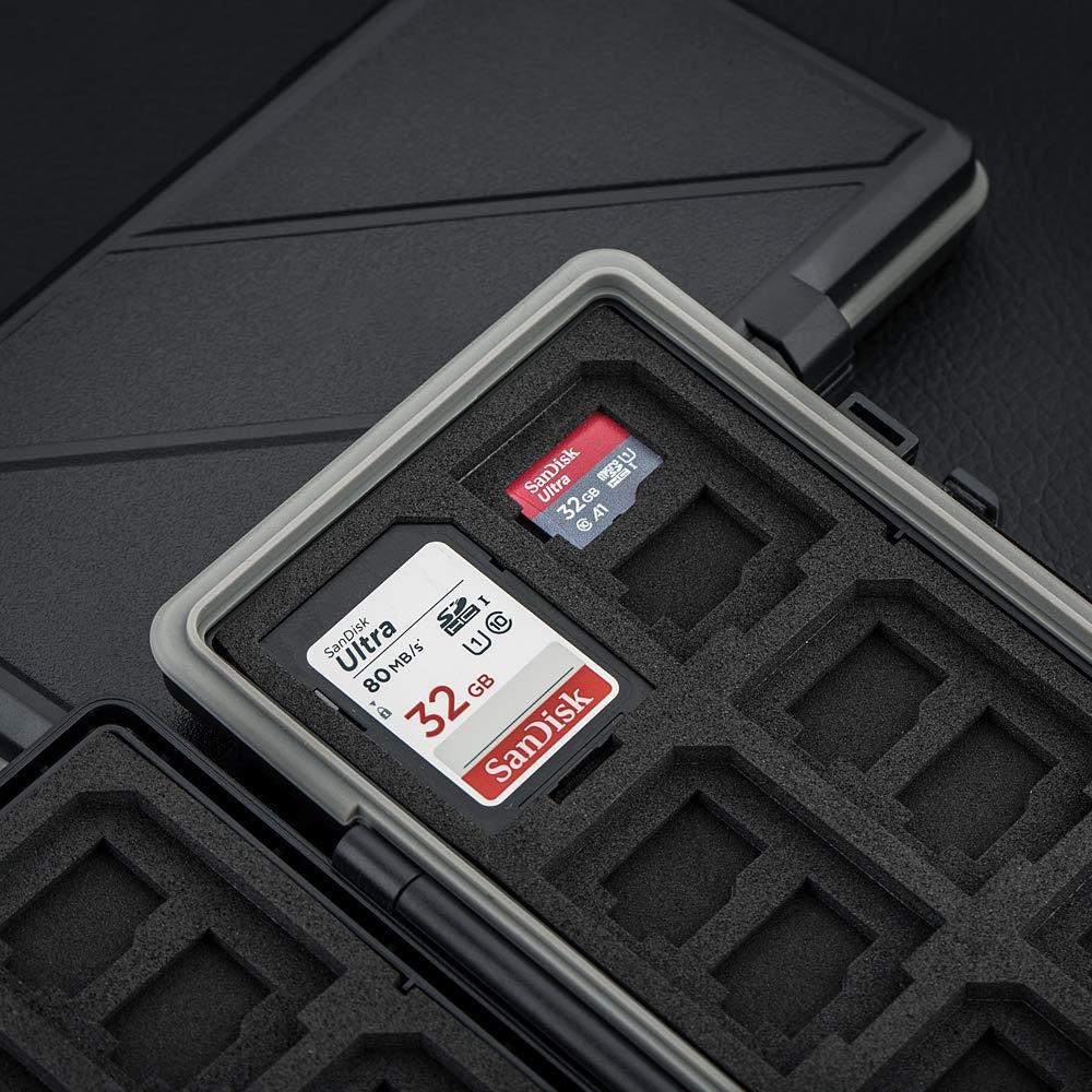 6 Slots XQD Card Holder Case XQD Memory Card Storage Protector for Nikon Z6 Z7 D850 D500 D5 D4S D4 Camera