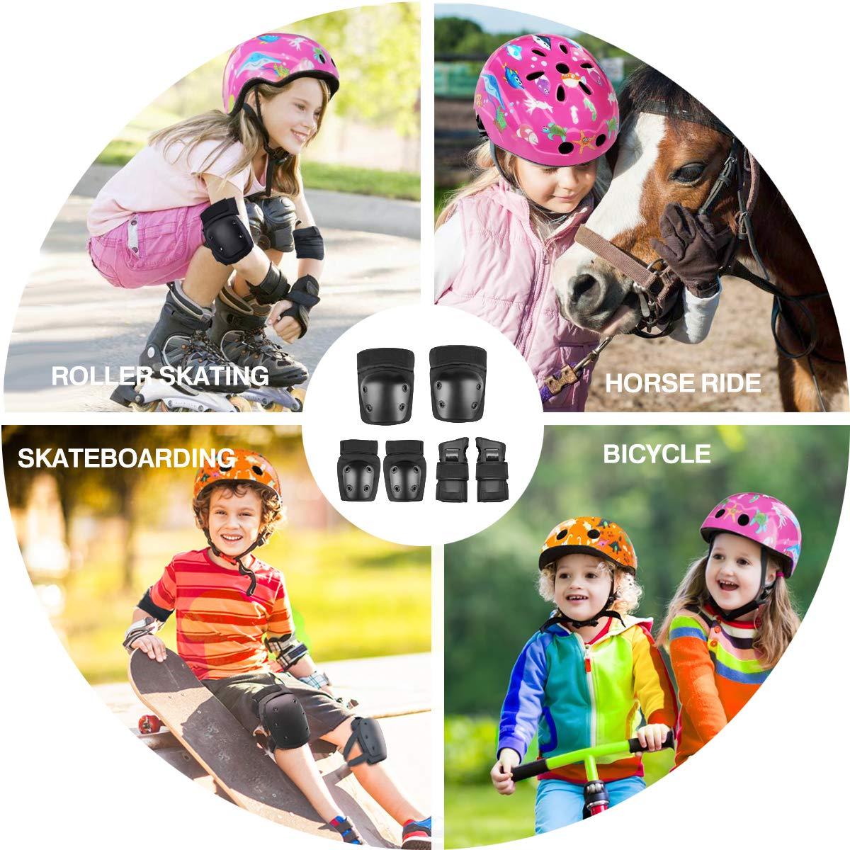 Monopat/ín Wasan Protecciones de Patinaje Patinar Bicicleta BMX Actividades al Aire Libre para Ni/ños /& Adultos Aeropat/ín 6pcs Coderas Rodilleras Mu/ñequeras para Rodillo