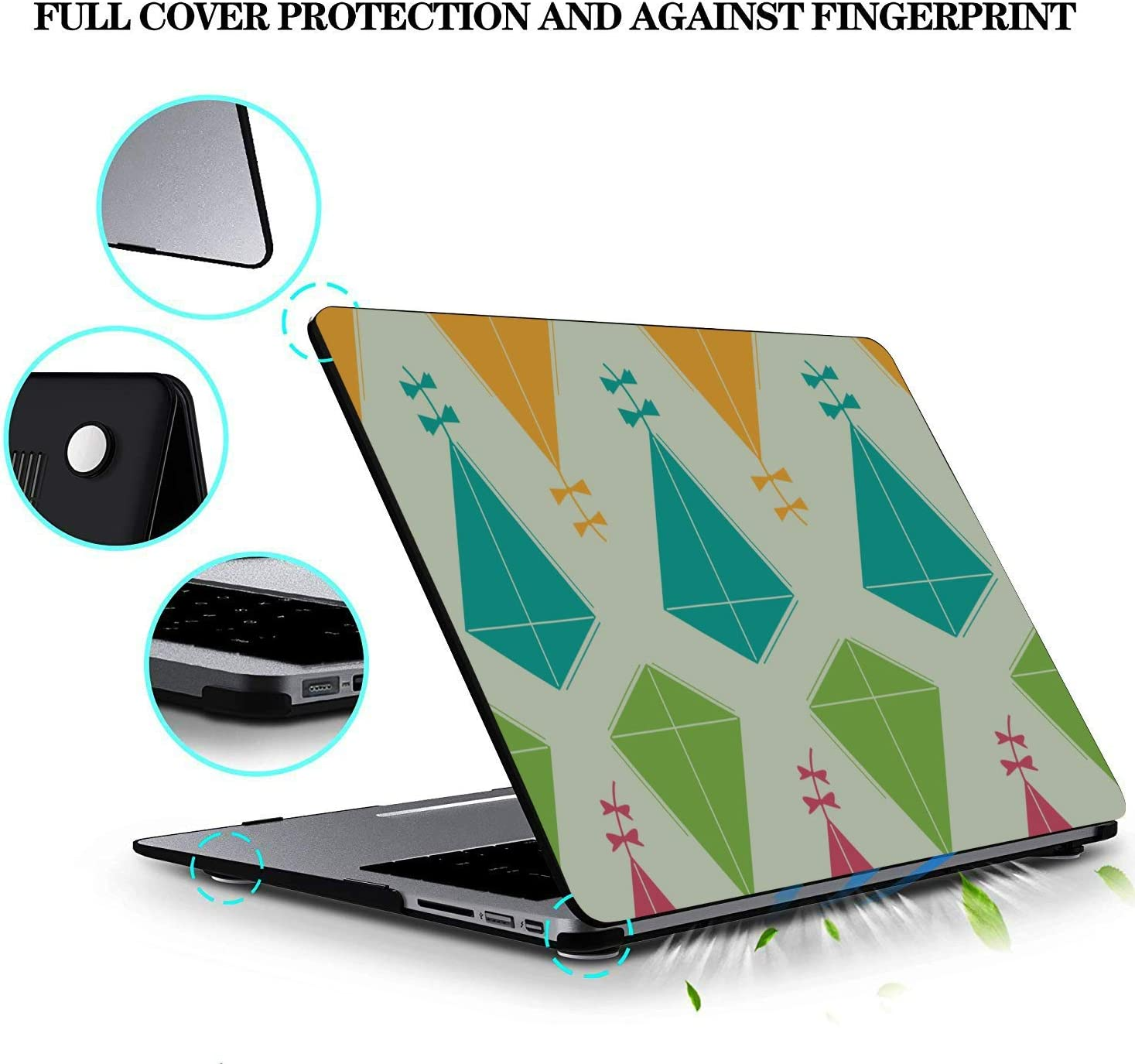 MacBook Air Hard Cover Spring Children Play Game Toy Kite Plastic Hard Shell Compatible Mac Air 11 Pro 13 15 MacBook Hard Case Protection for MacBook 2016-2019 Version