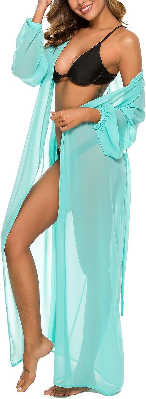 Romanstii Womens Swimsuit Beach Cover Up Dress Bikini Cardigan Open Front Bathing Suit Beach Maxi Dress
