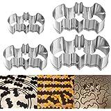 OUNONA Bat Ausstechformen Plätzchen Ausstecher für Halloween-Partei 304 Edelstahl - Satz von 4 Größen