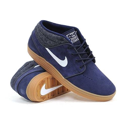 uk availability 56b78 394f1 Nike SB Lunar Stefan Janoski Mid Shield (Obsidian White-Gum Medium Brown)  Men s Skate Shoes  Amazon.ca  Shoes   Handbags