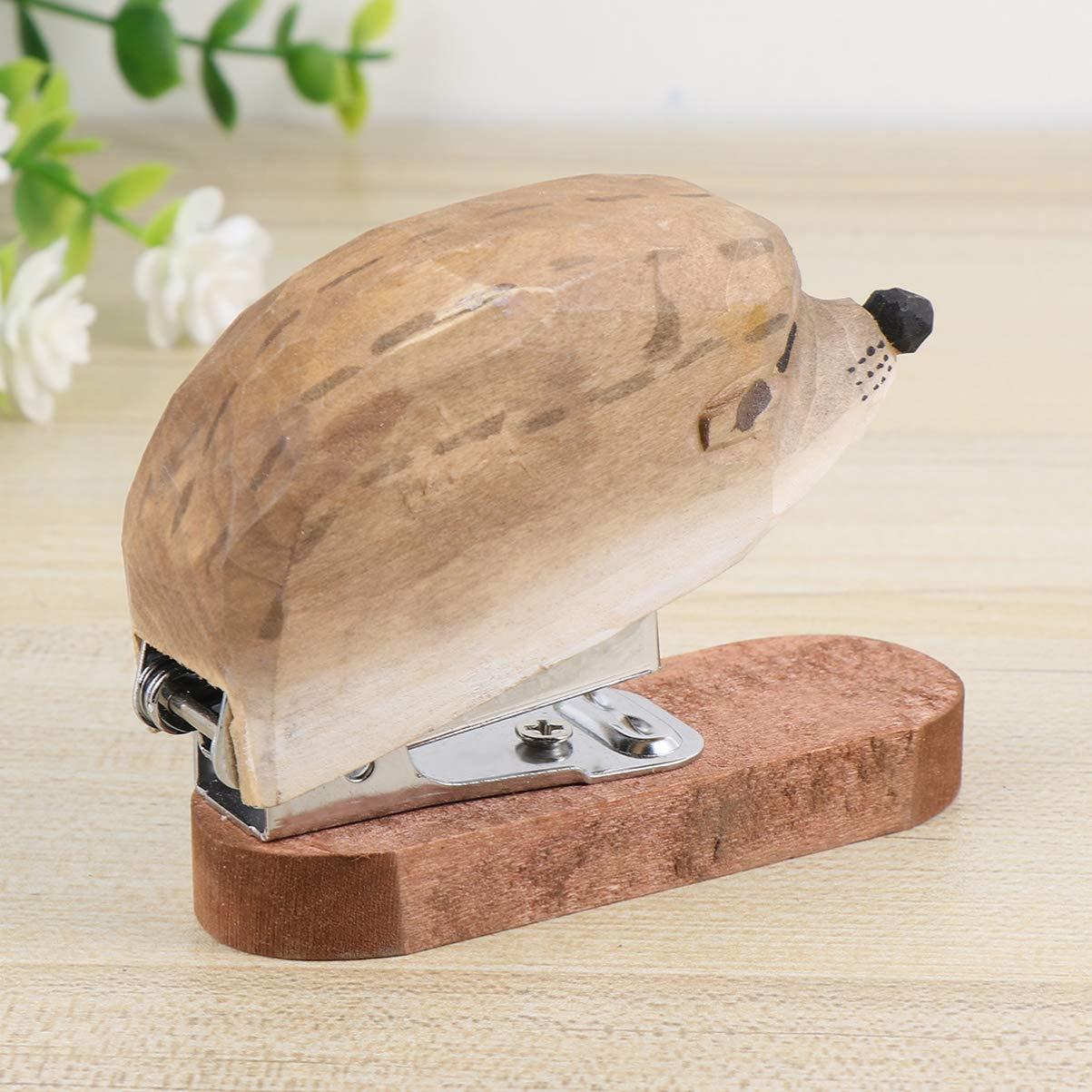 4cm licorne NUOBESTY Mini agrafeuse cr/éative en bois en forme danimal pour /école bureau 12 6