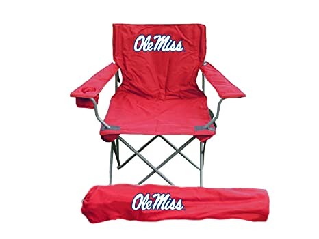 Beautiful Rivalry NCAA Ole Miss Rebels Folding Chair With Bag