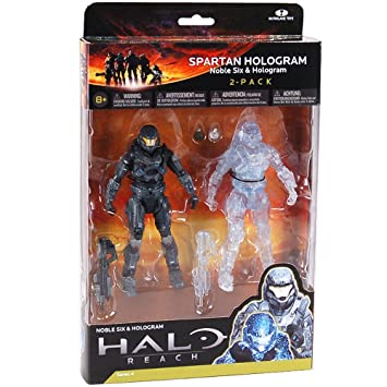 Halo Reach Series 4 Spartan Action Figure Holograma 2 Pack