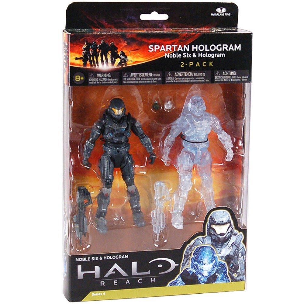 Halo Reach McFarlane Toys Series 4 Action Figure 2Pack Spartan Hologram Noble...