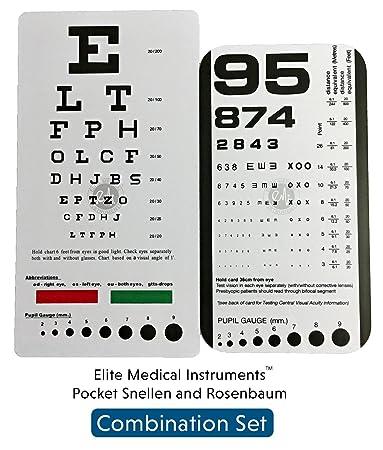 Amazon Emi Rosenbaum And Snellen Pocket Eye Charts 2 Pack
