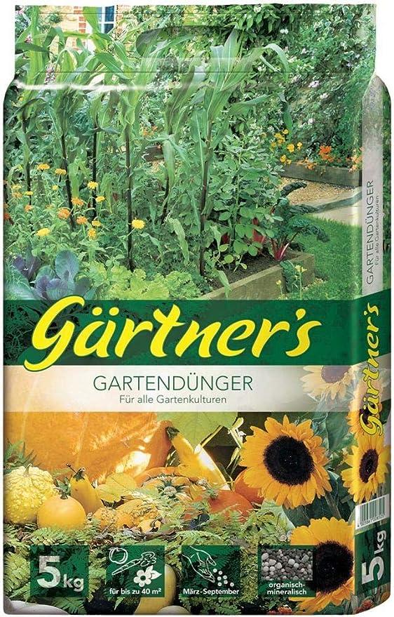 Gärtners Fertilizante jardín, abono NPK para Frutas, Verduras, Plantas vivaces y Flores, abono orgánico Mineral para la Mejora del Suelo, abono NPK 6+3+8: Amazon.es: Jardín