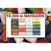 10000 m Hilo de coser varios colores funda