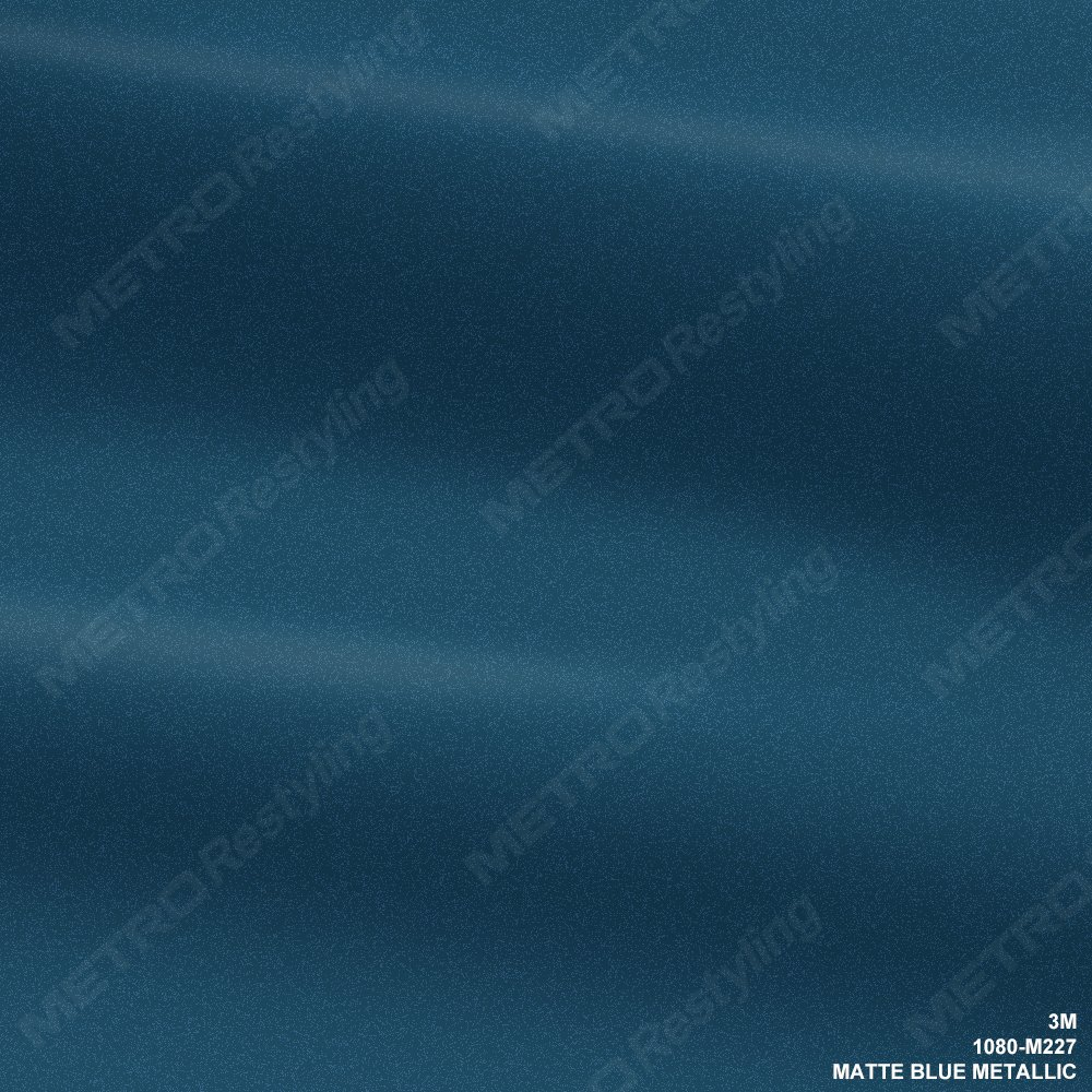 3M 1080 M227 MATTE BLUE METALLIC 5ft x 1ft (5 sq/ft) Car Wrap Vinyl Film