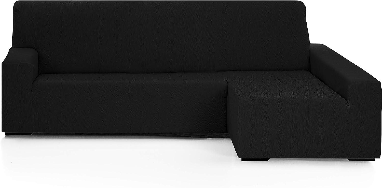 Martina Home Funda para sofa Chaise Longue modelo Emilia - Brazo derecho, color Negro