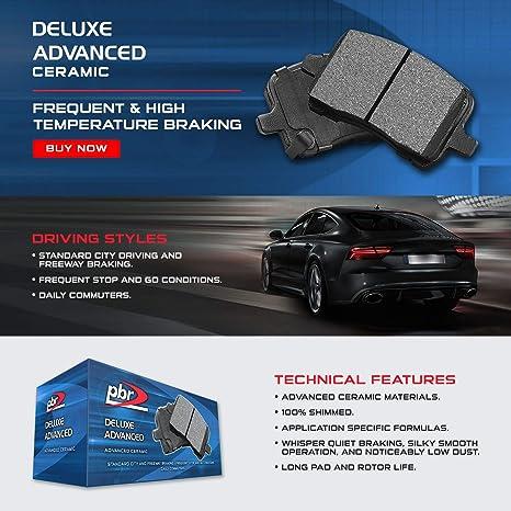 For 2016-2018 BMW X1 X2 Full Kit PBR AXXIS Drill//Slot Brake Rotors+Ceramic Pads