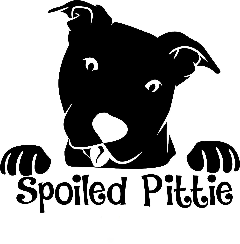 1着でも送料無料 TシャツロケットPitbull B07BPPMMD7 Decal Pittie – Spoiled Pittie Peeking Pit面 – ピットブル犬車デカール 6
