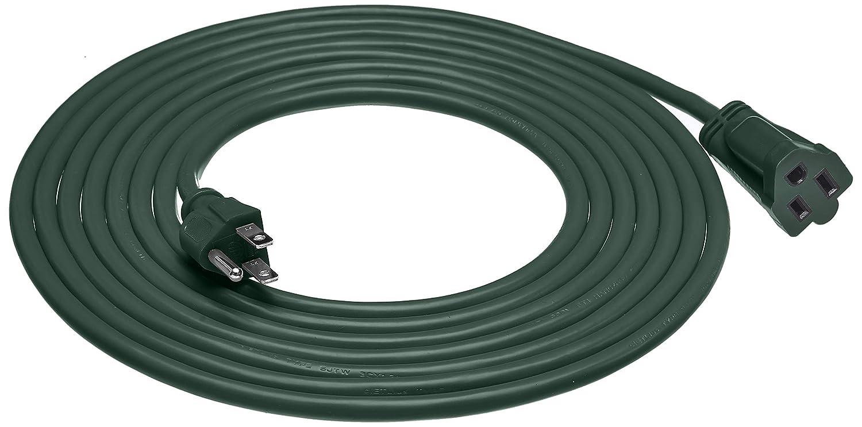 Basics 16/3 Vinyl Outdoor Extension Cord, Green, 15 Foot