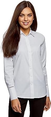 oodji Collection Mujer Blusa de Algodón con Vainica: Amazon.es: Ropa y accesorios