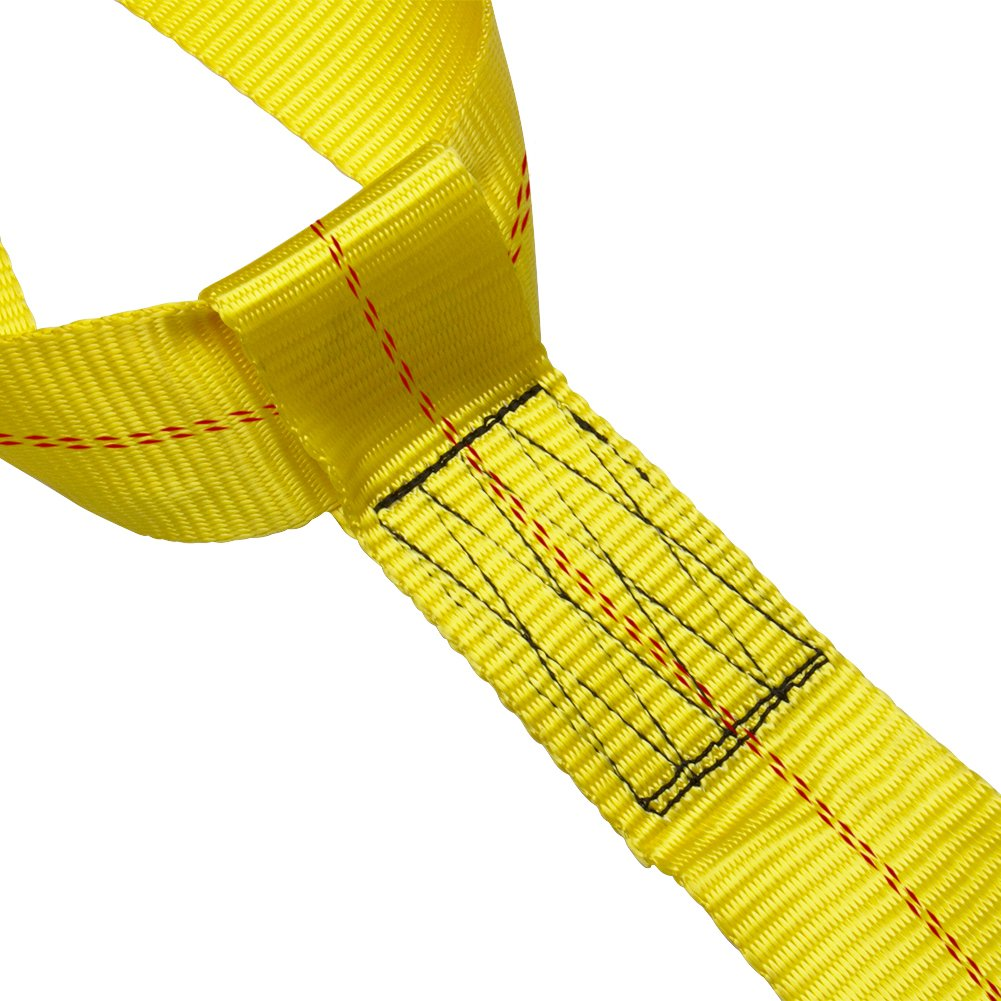 Bang4buck 2 Pieces Universal Adjustable Bonnet Tie Down System Wheel Straps for Demco Kar Kaddy Dollys with 2 Flat Hooks (Yellow-Rachet Strap) by Bang4buck (Image #7)