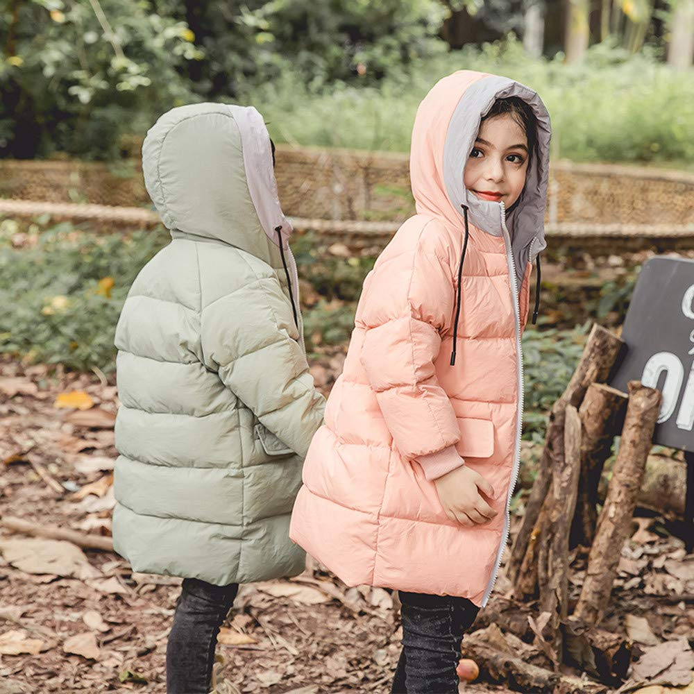 Dacawin Clearance Children Winter Warm Jacket Zipper Hoodie Windproof Coats for Girls Boys