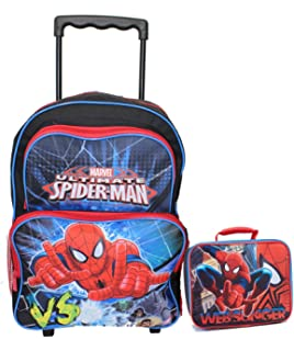 Amazon.com: Spiderman Rolling Backpack - Spider-man Wheeled ...
