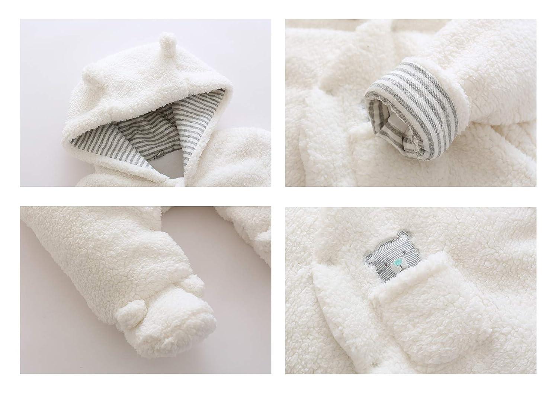 HUHUXXYY Newborn Baby Boys Girls Outwear Hood Winter Warm Jumpsuit Snowsuit