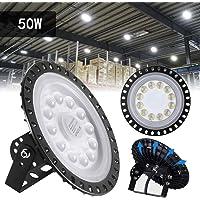 Sararoom 50W UFO Iluminación LED Alta,120°Lámpara Industrial Ultra
