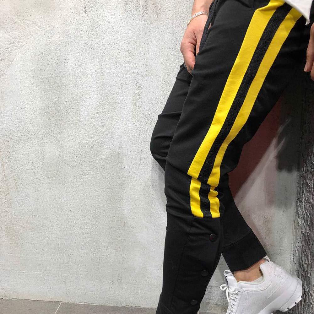 d5061fa129c6 Bovake Herren Nähen Hose Sport Slim Chino Pants Moderne Stoffhose,  Baumwollhose für Männer, Freizeithose