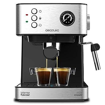 Cecotec Power Espresso Professionale - Cafetera Express para Espresso y Capuccino, 20 Bares, Manómetro Medidor de Presión, mecánica: Amazon.es: Hogar