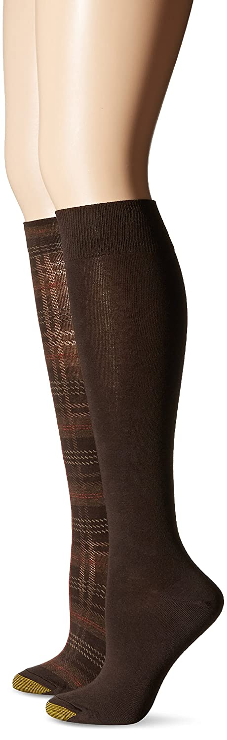 Gold Toe Women's Abigal Plaid Knee High Sock (Pack of 2)