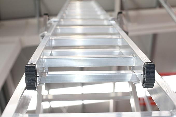 Escalera Profesional de Aluminio Triple Tijera con Tramo Extensible (2+2+2). Escada Tripla (2+2+2)): Amazon.es: Bricolaje y herramientas