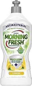 Morning Fresh Antibacterial Lemon Dishwashing Liquid, Lemon 650 milliliters