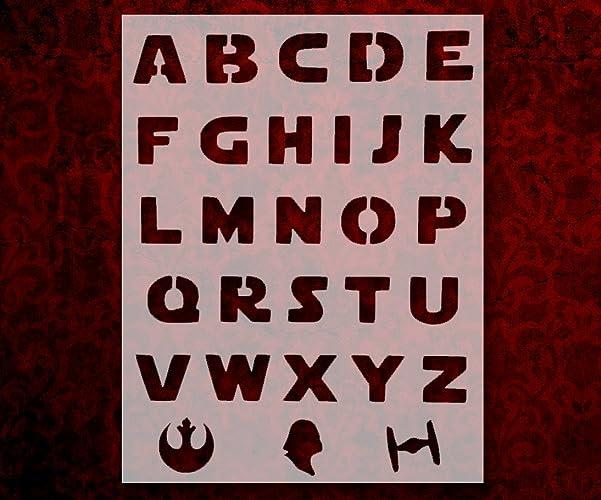 Amazon.com: Star Wars Font Alphabet Letters Darth Vader 8.5