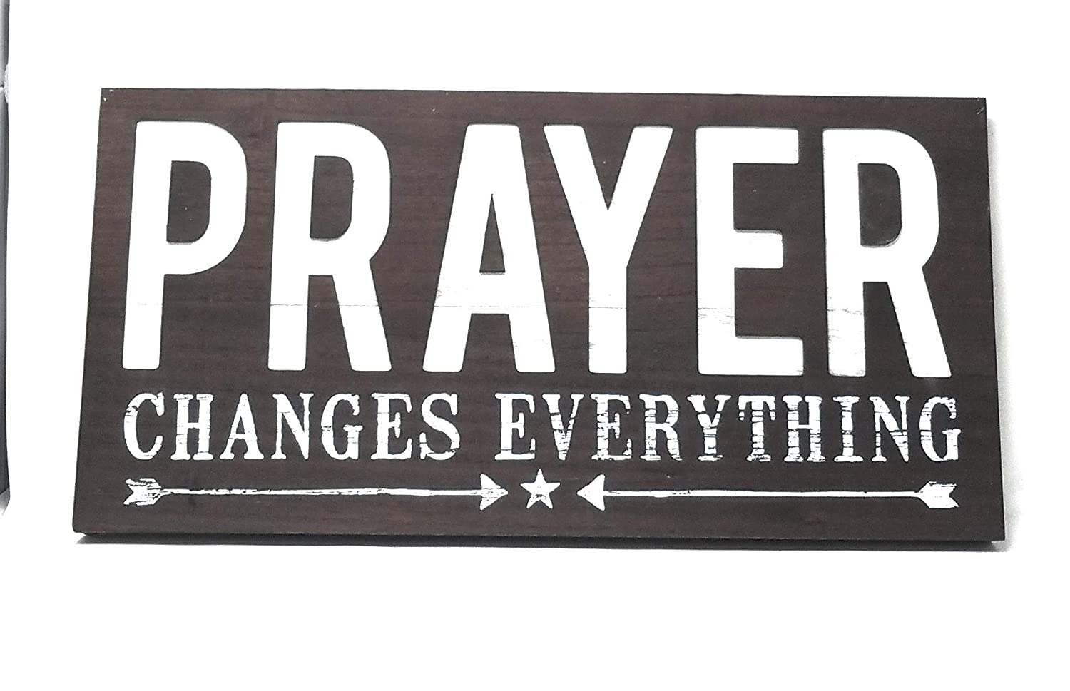 Espresso Rustic Silkscreen and Cut-Out 12 x 24 Wood Box Sign Live Love Indulge Prayer Changes Everything