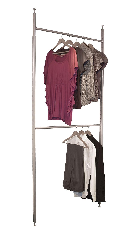 SpacePro Aura Wardrobe Kit, Metal, White, Small Home Decor GB 2939-001-KIT