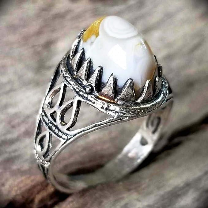 handmade 925 sterling silver ring genuine soliamani yemen agate mens silver ring man ring man jewelry gemstone for men arabic silver ring