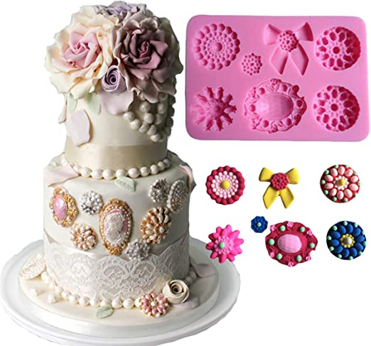 3D Mini Cameo Icing Silicone Mould Sugarcraft /& Cake decorating tool