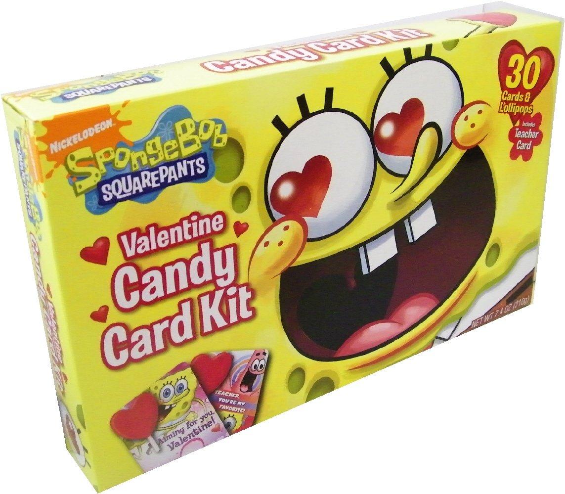 spongebob valentine candy card kit amazoncom grocery gourmet food - Spongebob Valentine Cards