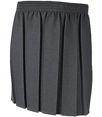 3760457cf8770 Niñas uniforme escolar caja plisado falda 2 - 16 años negro gris azul  marino gris gris 8-9 Años  Amazon.es  Ropa y accesorios