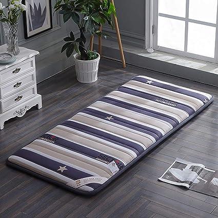 GJFLife Espesado Algodón Colchón Tatami Colchón Almohadilla, Respirable Dormitorio de Estudiantes Piso Colchón Cubre colchón
