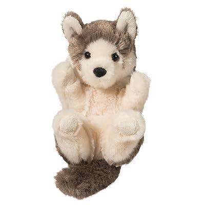 Douglas Gray Wolf Lil' Handful Plush Stuffed Animal: Toys & Games
