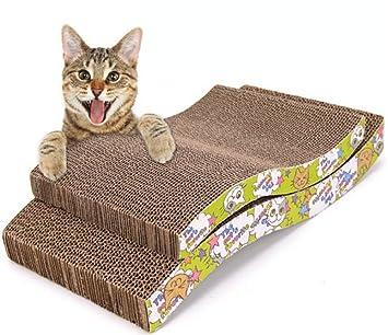 Dosige Juguete del Gato del Animal doméstico S Forma de cartón Corrugado sofá cojín Gato Marco