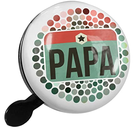 Amazon.com : NEONBLOND Bike Bell Papa Fathers Day Retro ...