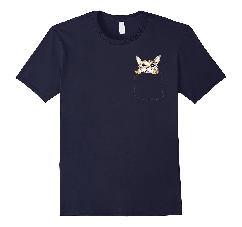 ea802e4ed142 Pocket Cat T-Shirt | Funny Cute Peeking Kitten Tee-ANZ – Anztshirt