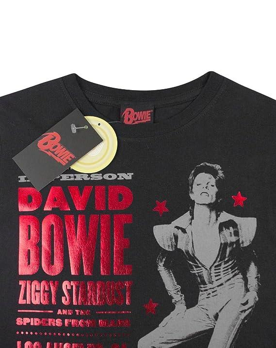 David Bowie Ziggy Stardust 1973 Women's T-Shirt (XXL): Amazon.co.uk:  Clothing