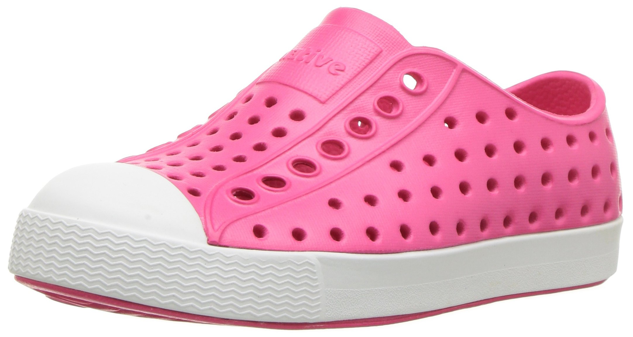 Native baby-girls Jefferson Child Water Proof Shoes, Hollywood Pink/Shell White, 5 Medium US Toddler