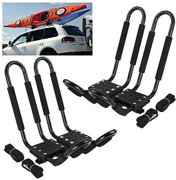 Kayak Roof Carrier >> Amazon Com Car Rack Carriers C Universal 2 Pairs J Shape Rack Hd