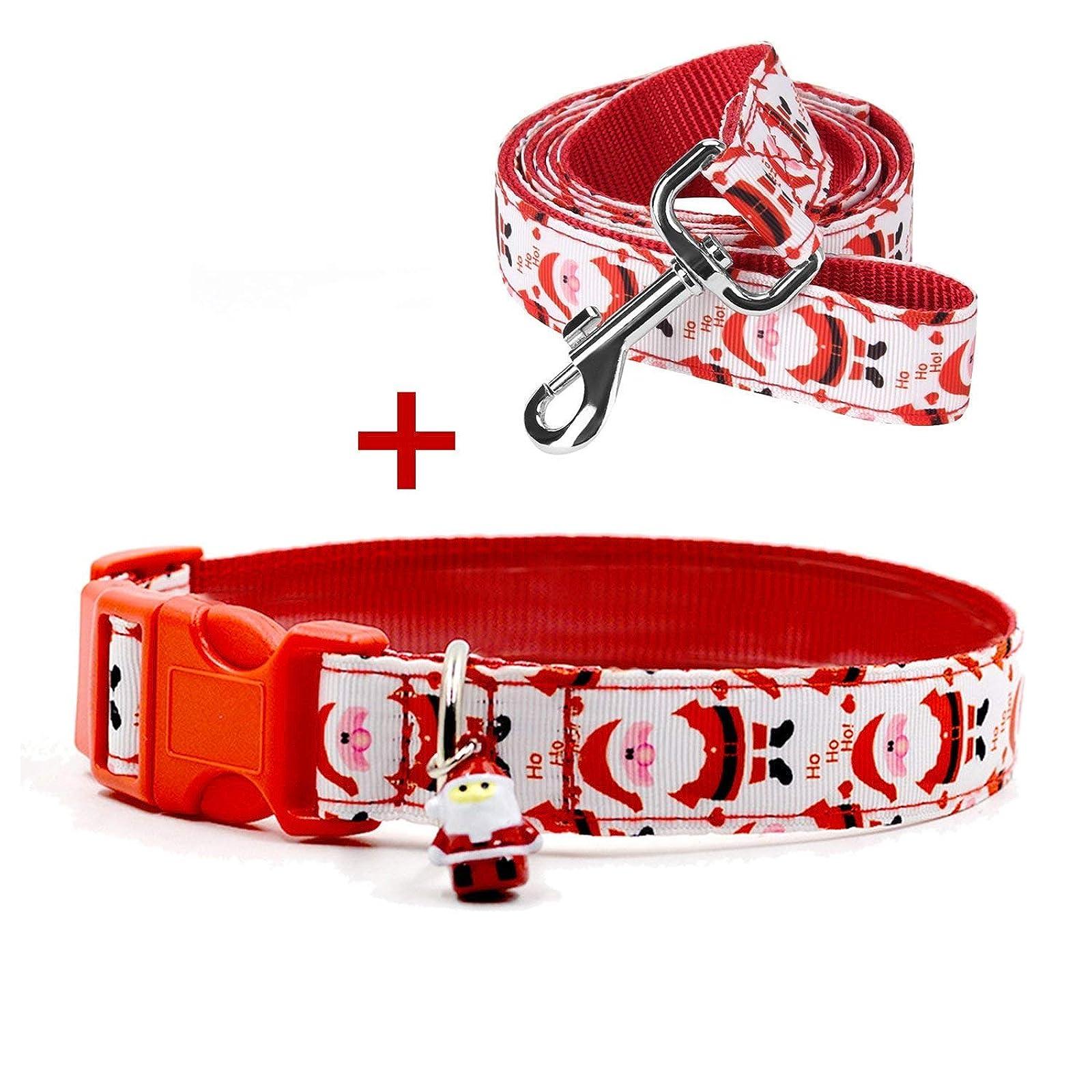 RYPET Christmas Dog Collar and Leash - Santa - 7